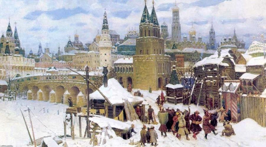 Vsehsvyatskij-kamennyj-most.-Moskva-kontsa-XVII-veka