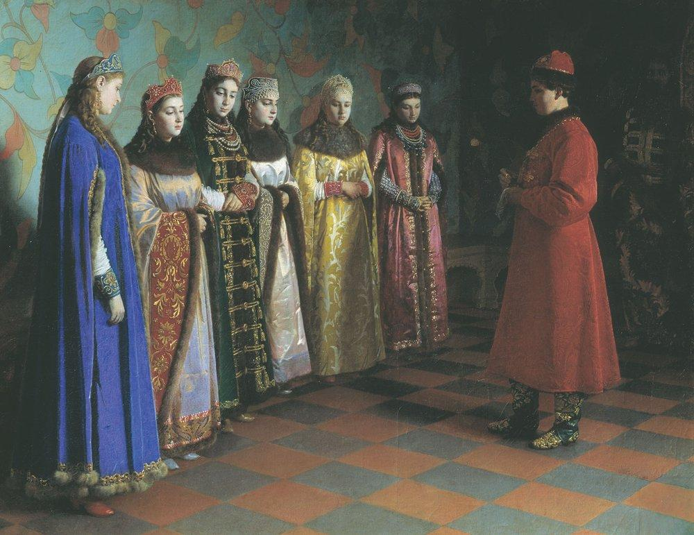 Vybor-nevesty-tsaryom-Alekseem-Mihajlovichem-1882