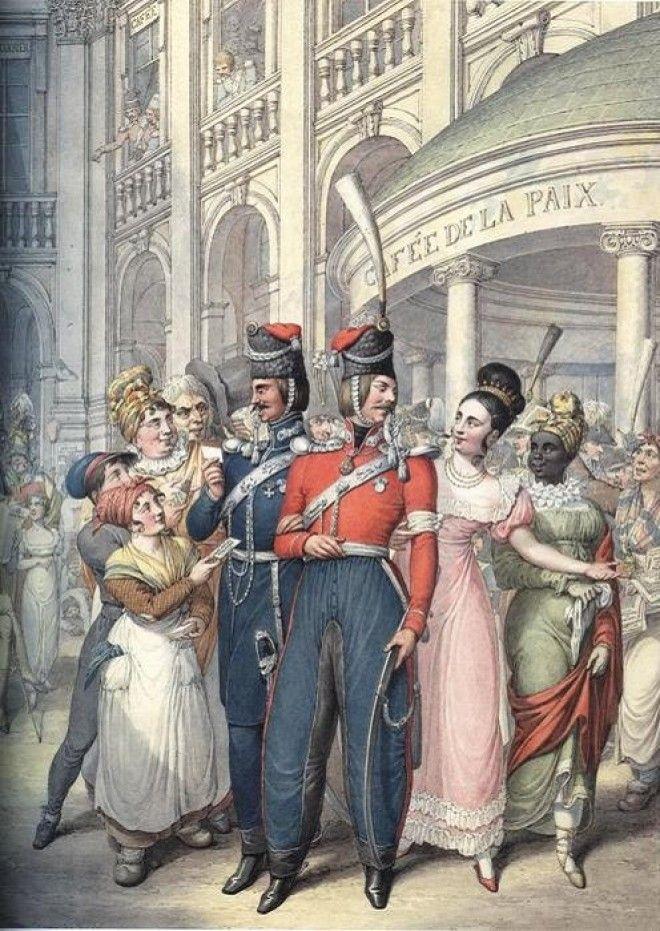Русские войска в Париже. Акварель, Георг Эммануэль Опиц