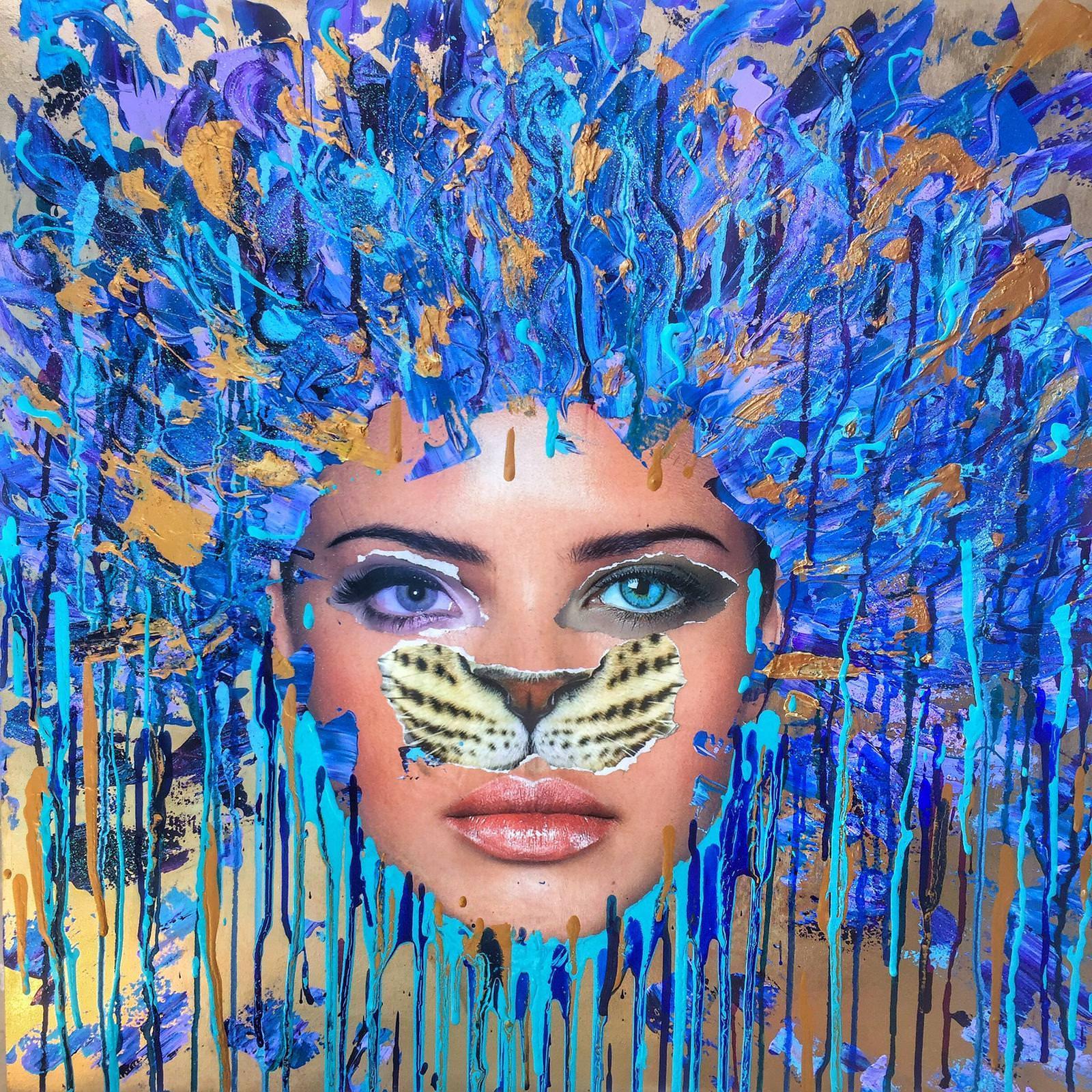 Blue tiger, 2016
