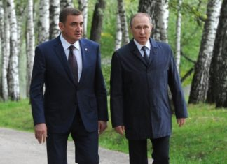 А. Дюмин и В. Путин
