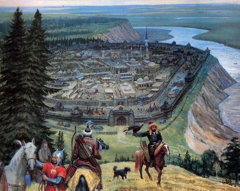 Татары у русского города