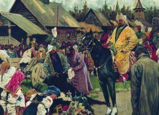 Татары в окрестностях русского города