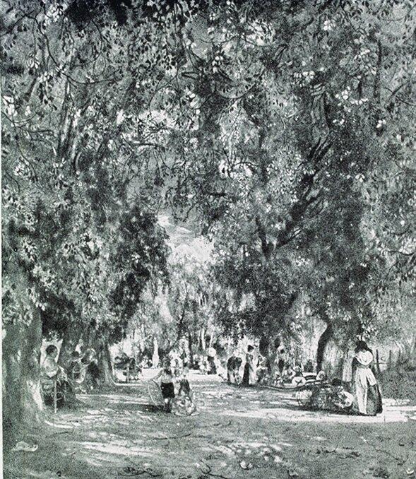 Картина аллея парка в Риме