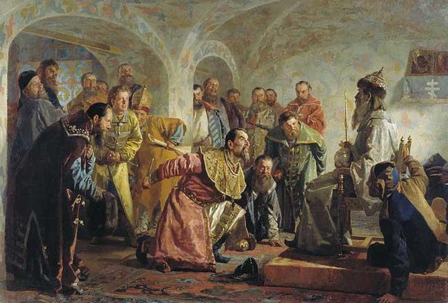 «Опричники».Николай Неврев, 1888 год