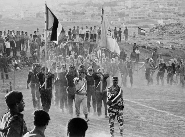 Парад боевиков Организации освобождения Палестины. Амман, 1970 год