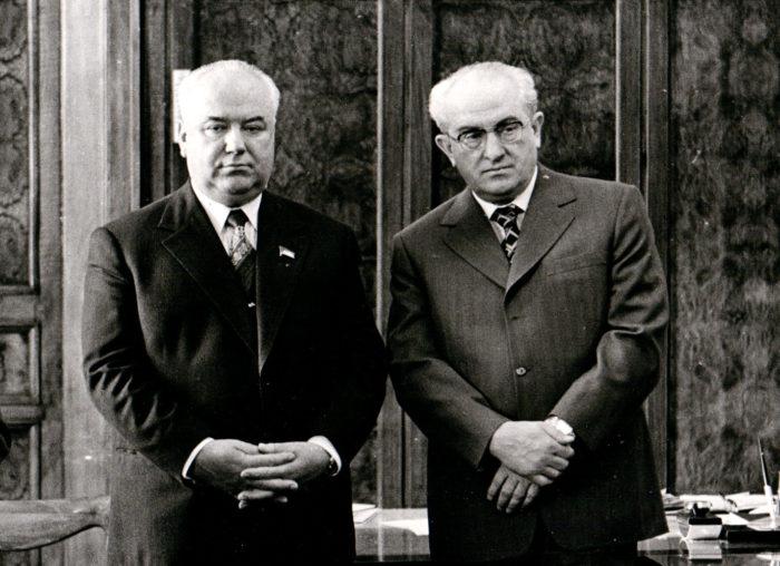 Семен Цвигун и Юрий Андропов
