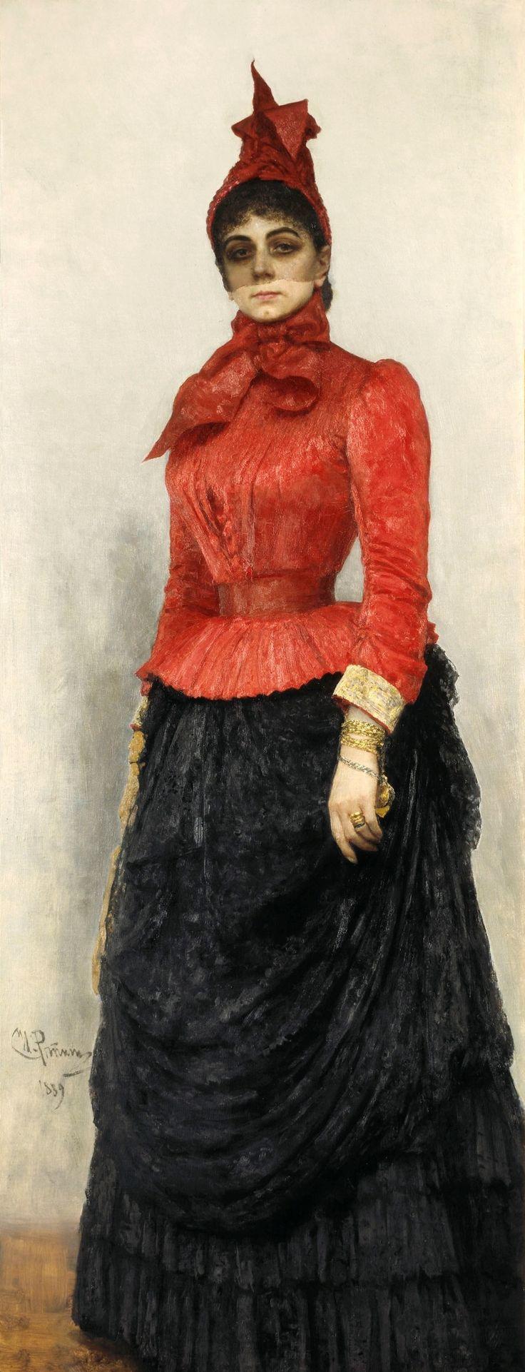 Тайны старых картин - «Женщина в красном» Ильи Репина