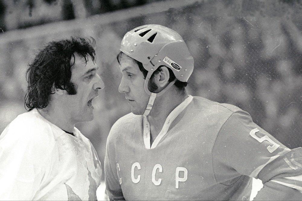 Александр Рагулин и Фил Эспозито, 1972 г