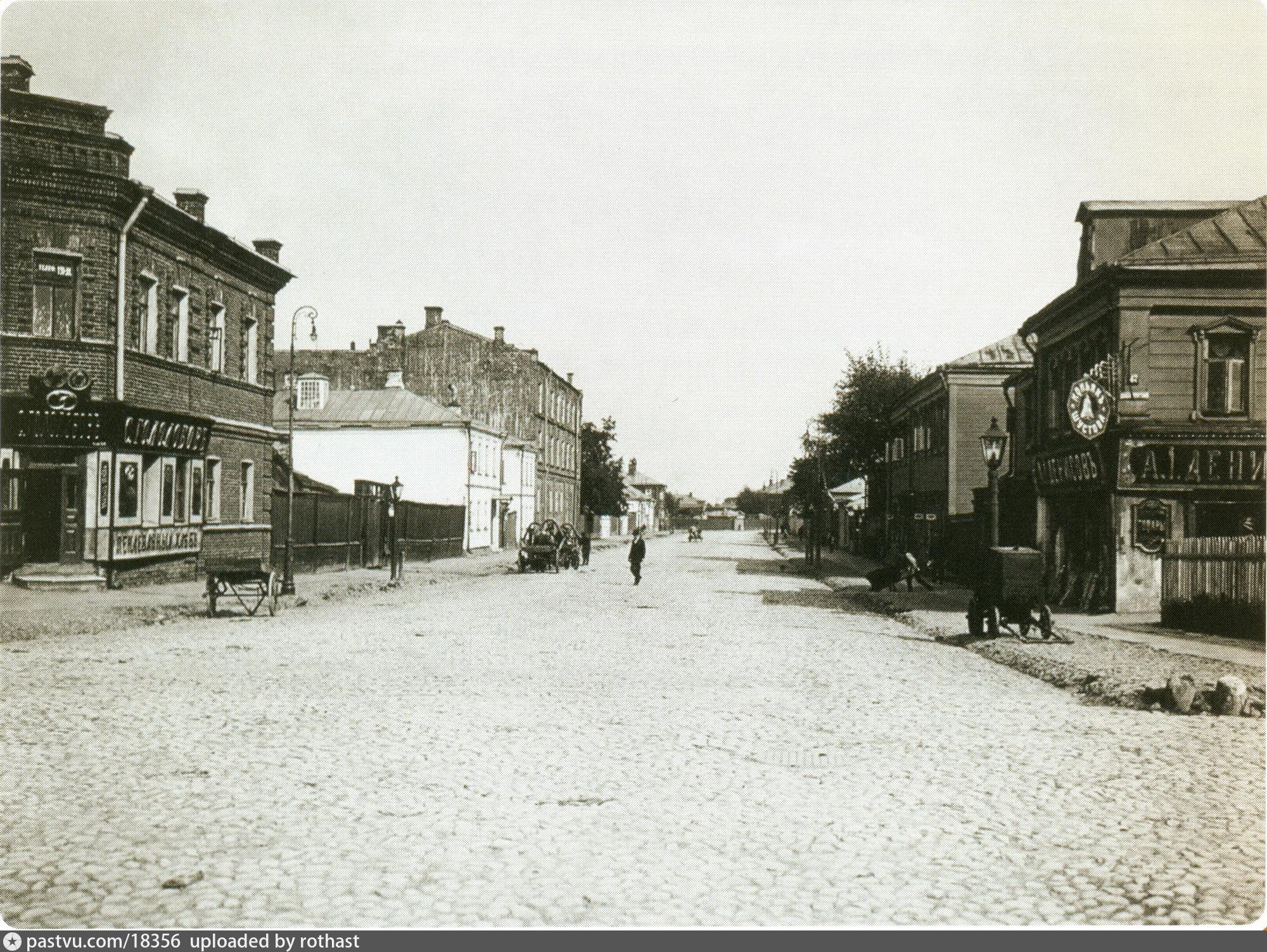 Конный переулок на Шаболовке. 1913–1914. Фото Э. В. Готье-Дюфайе