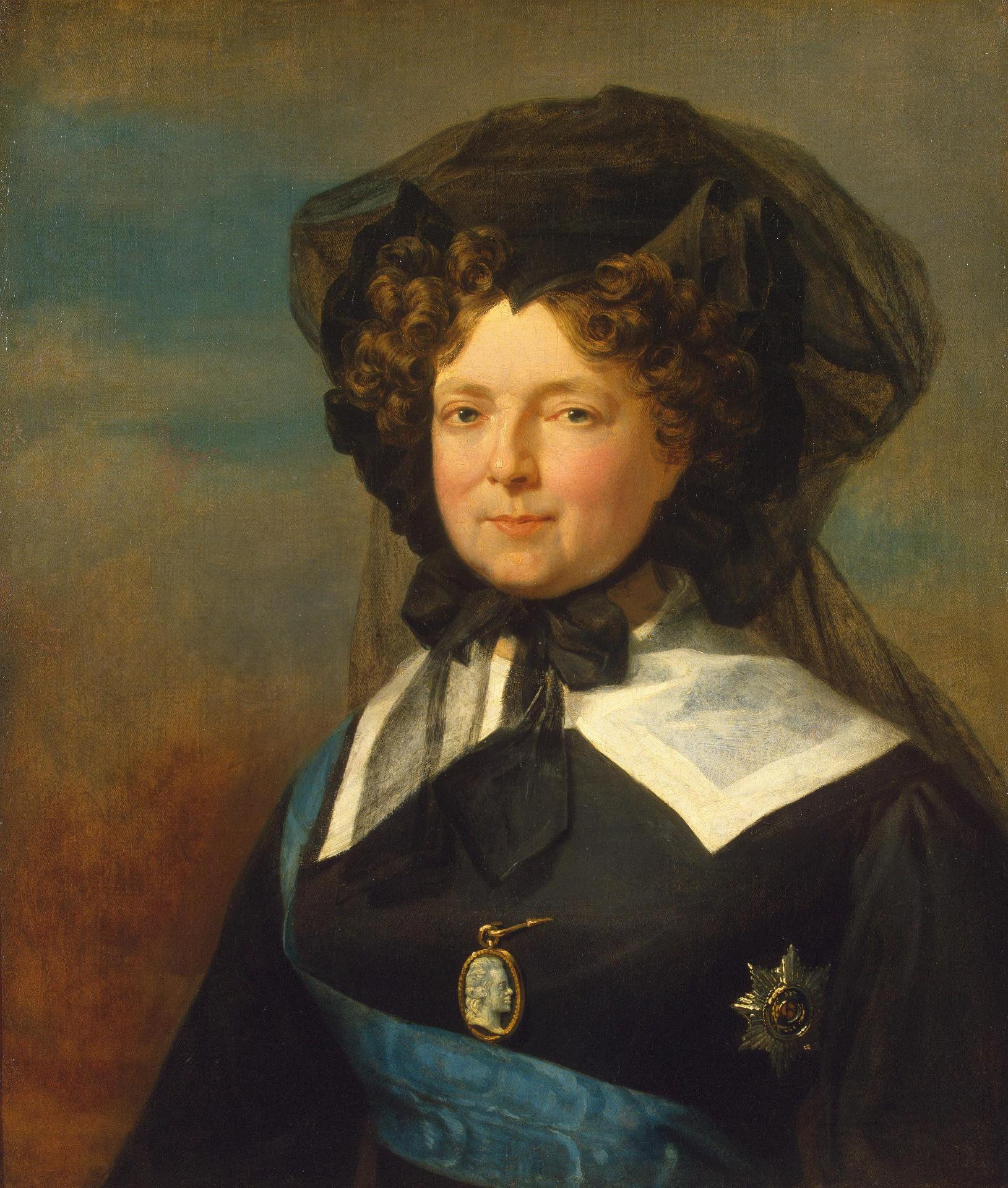 Доу, Джордж. 1781-1829 Портрет императрицы Марии Федоровны в трауре