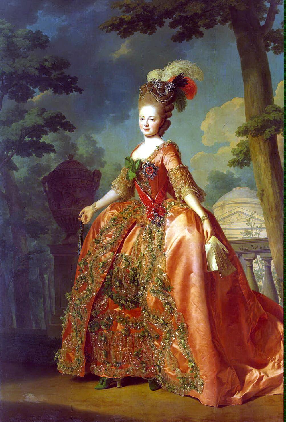 Мария Фёдоровна вскоре после свадьбы. Портрет Александра Рослина.
