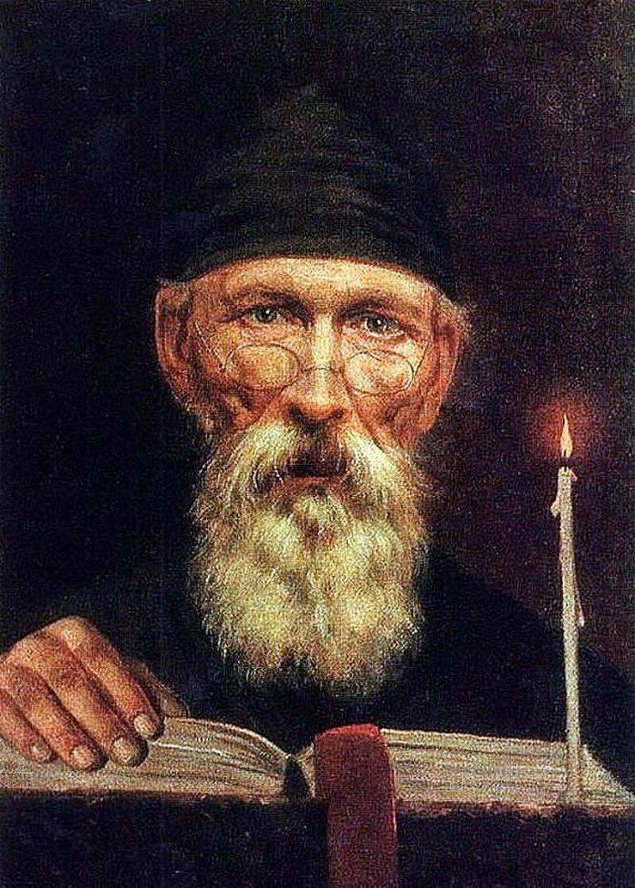 Монах со свечой