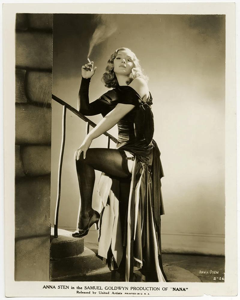Анна Стэн в своем первом голливудском фильме «Нана», 1934 год