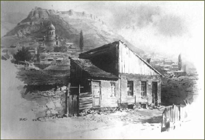 Дом в котором родился Сталин.