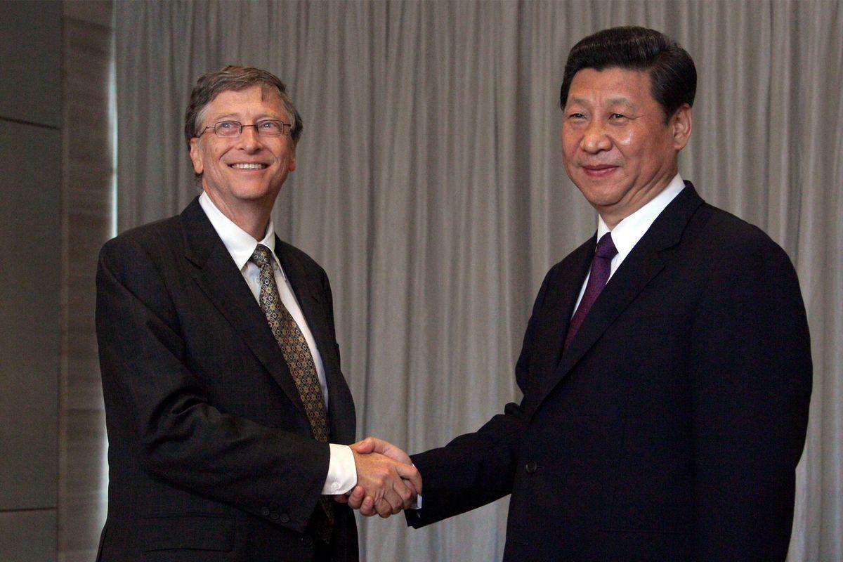Си дзинь Пинь с Биллом Гейтсом