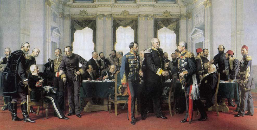 Антон фон Вернер Берлинский конгресс. Горчаков изображен сидящим на стуле справа
