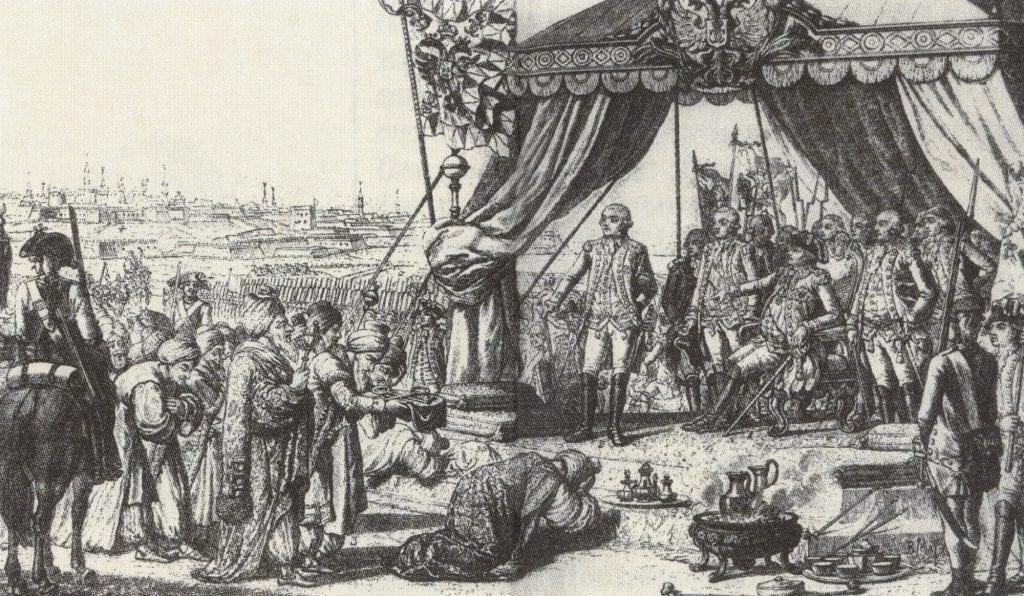 Капитуляция турками крепости Бендеры князю Потёмкину-таврическому 4 ноября 1789 года
