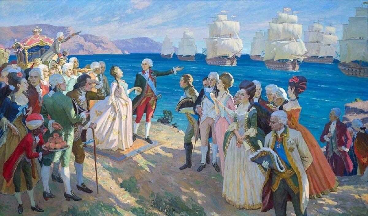 Потемкин и Екатерина в Крыму