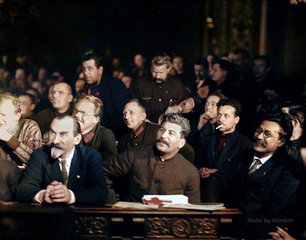И.В. Сталин на XV съезде ВКП(б). Москва. 1927 г.